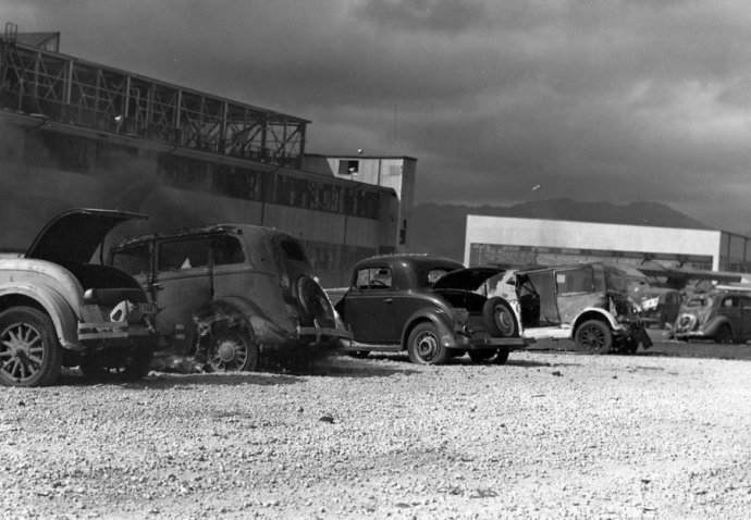 cars-that-were-strafed-by-japanese-aircraft-pictured-at-naval-air-station-kaneohe-hawaii-in-the-aftermath-of-the-japanese-attack-on-pearl-harbor