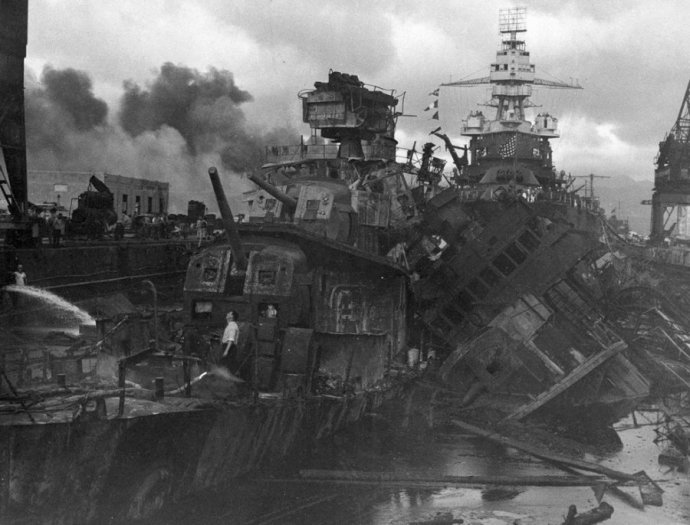 heavy-damage-is-seen-on-the-uss-casin-and-the-uss-downes