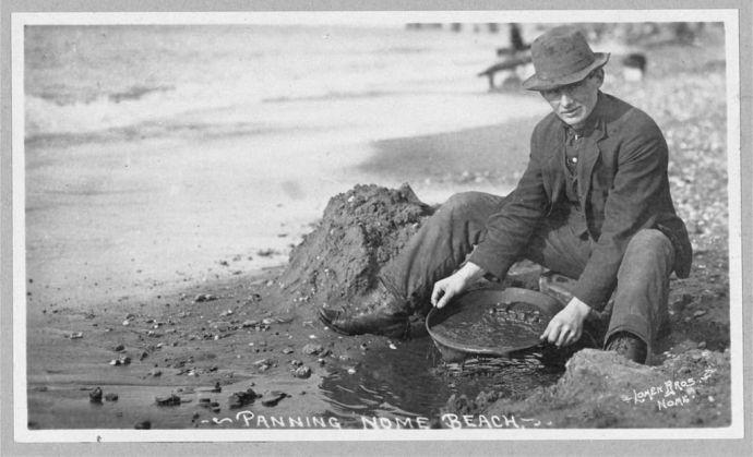 gold panning 1900's Nome Alaska